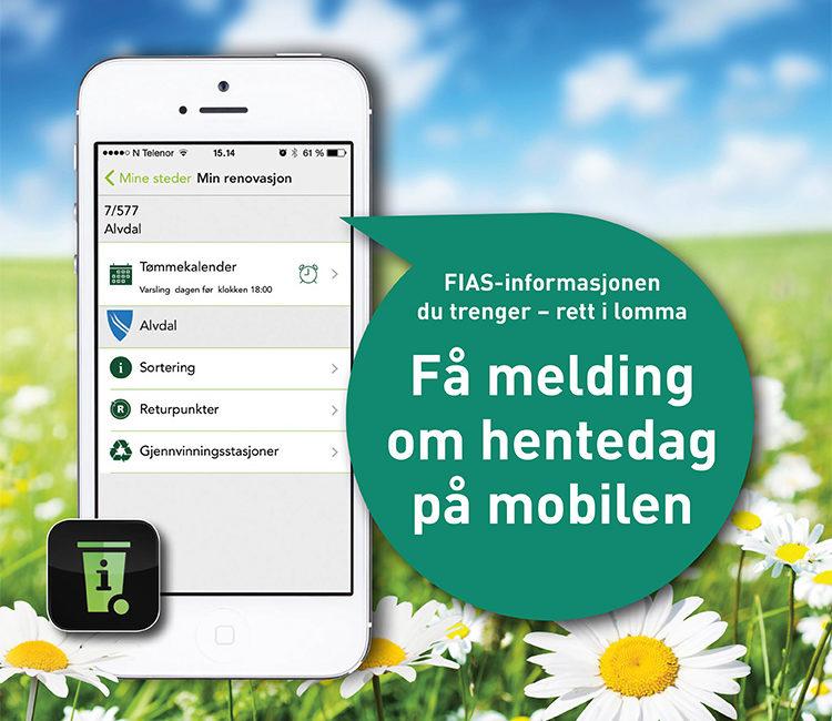 MinRenovasjon, en app som gir deg melding om hentedag på mobilen.