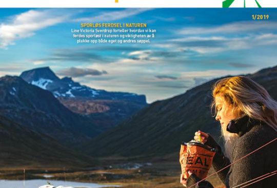 Forsiden på Hytteposten, med blogger Line Victoria Sverdrup på tur