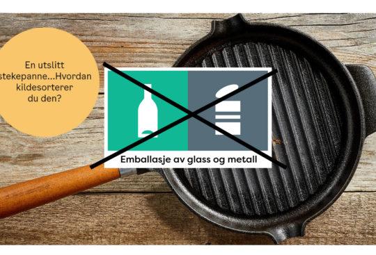 Stekepanne skal ikke i glass og metall