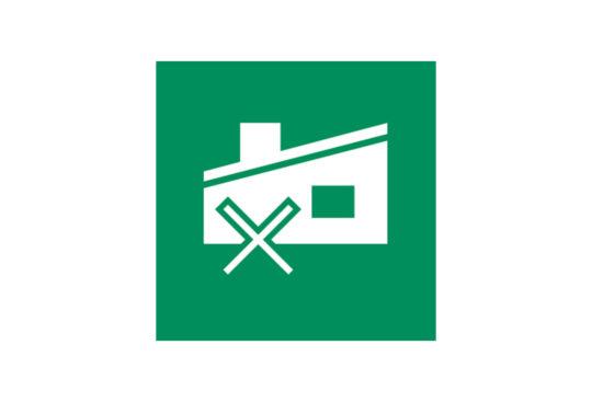 Ikon for stengt gjenvinningsstasjon